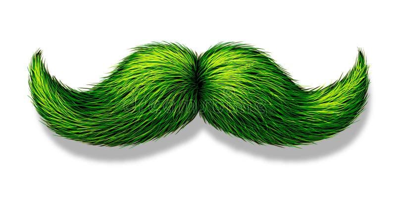 Πράσινο Moustache διανυσματική απεικόνιση