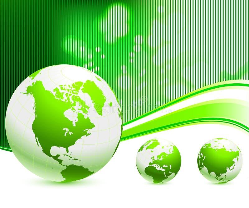 πράσινο nautre σφαιρών ανασκόπησ& απεικόνιση αποθεμάτων