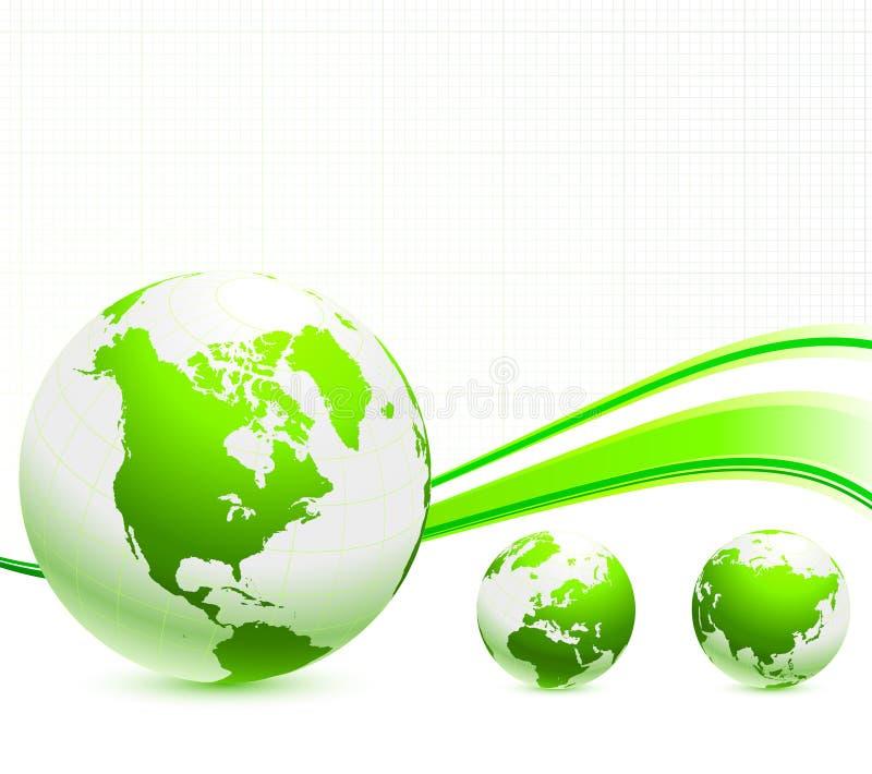 πράσινο nautre σφαιρών ανασκόπησ& ελεύθερη απεικόνιση δικαιώματος