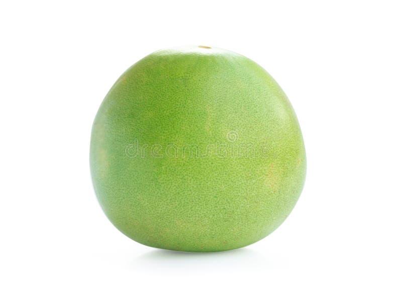 Πράσινο pomelo εσπεριδοειδές που απομονώνεται στο άσπρο υπόβαθρο στοκ φωτογραφία με δικαίωμα ελεύθερης χρήσης