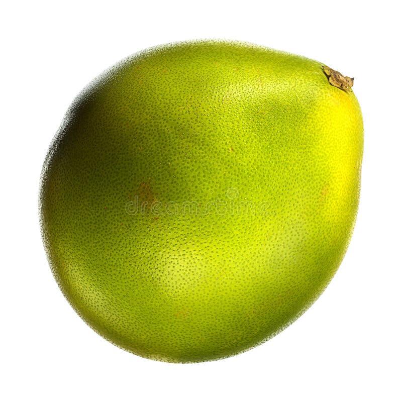 Πράσινο pomelo εσπεριδοειδές που απομονώνεται στο άσπρο υπόβαθρο Με το ψαλίδισμα του μονοπατιού στοκ εικόνες με δικαίωμα ελεύθερης χρήσης