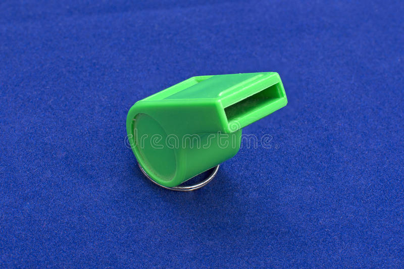 Πράσινο whistle_02 στοκ εικόνα με δικαίωμα ελεύθερης χρήσης