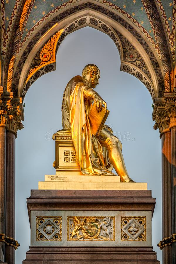 Πρίγκηπας Αλβέρτος Memorial, Kensington, Λονδίνο στοκ φωτογραφία