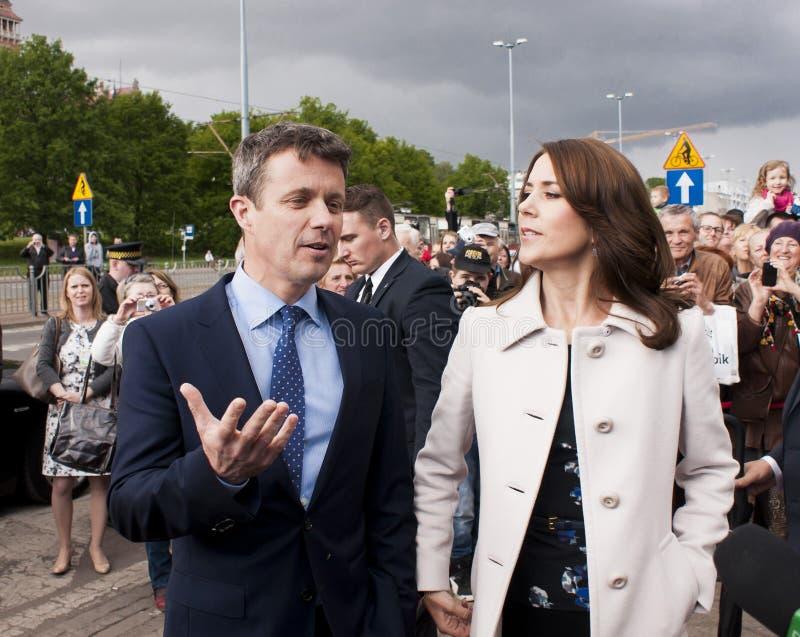 Πρίγκηπας Frederik της Δανίας και επίσκεψη Πολωνία της Mary πριγκηπισσών στοκ φωτογραφίες