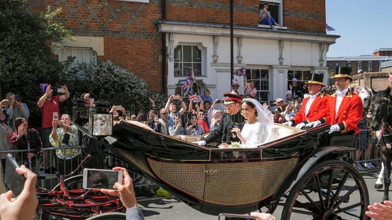Πρίγκηπας Harry, δούκας του Σάσσεξ και Meghan, δούκισσα της άδειας του Σάσσεξ στοκ φωτογραφίες με δικαίωμα ελεύθερης χρήσης