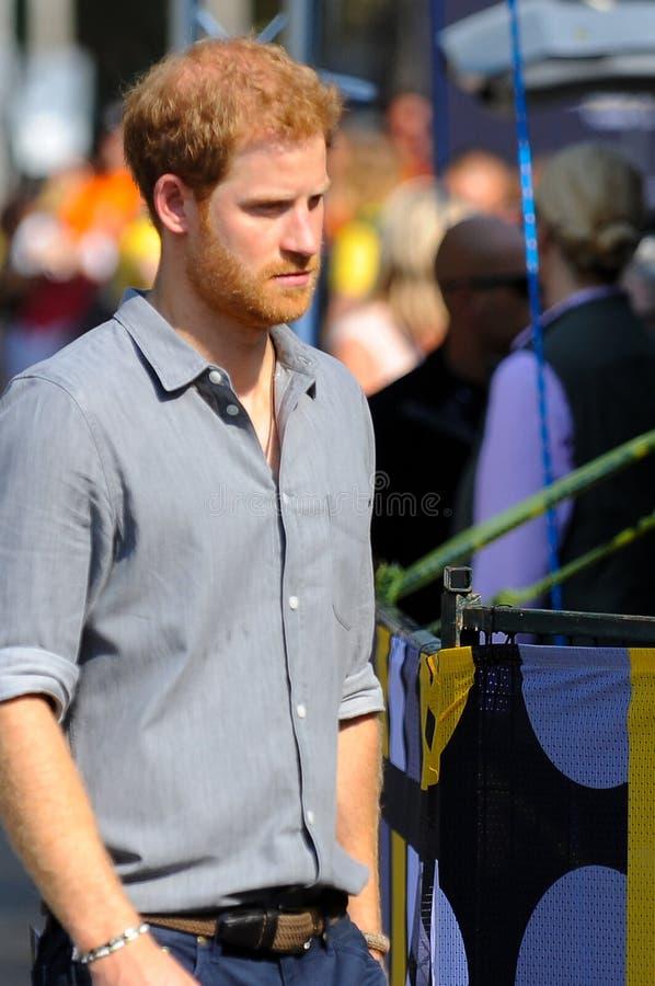 Πρίγκηπας Harry κατά τη διάρκεια των παιχνιδιών Invictus στοκ εικόνες με δικαίωμα ελεύθερης χρήσης