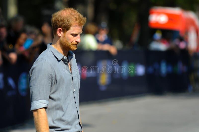 Πρίγκηπας Harry κατά τη διάρκεια των παιχνιδιών Invictus στοκ εικόνες