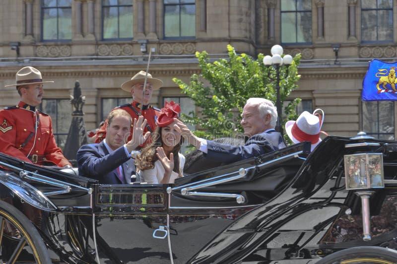 Πρίγκηπας William και Kate, ημέρα του Καναδά στοκ εικόνα με δικαίωμα ελεύθερης χρήσης