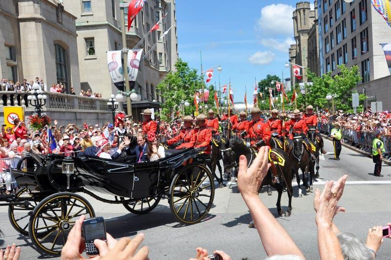 πρίγκηπας William της Catherine Οττάβα στοκ φωτογραφίες με δικαίωμα ελεύθερης χρήσης
