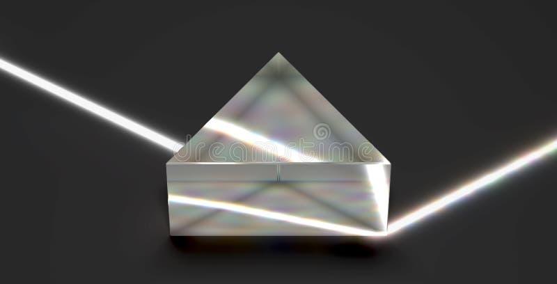Πρίσμα που απεικονίζει την οπτική ελαφριά ακτίνα διανυσματική απεικόνιση