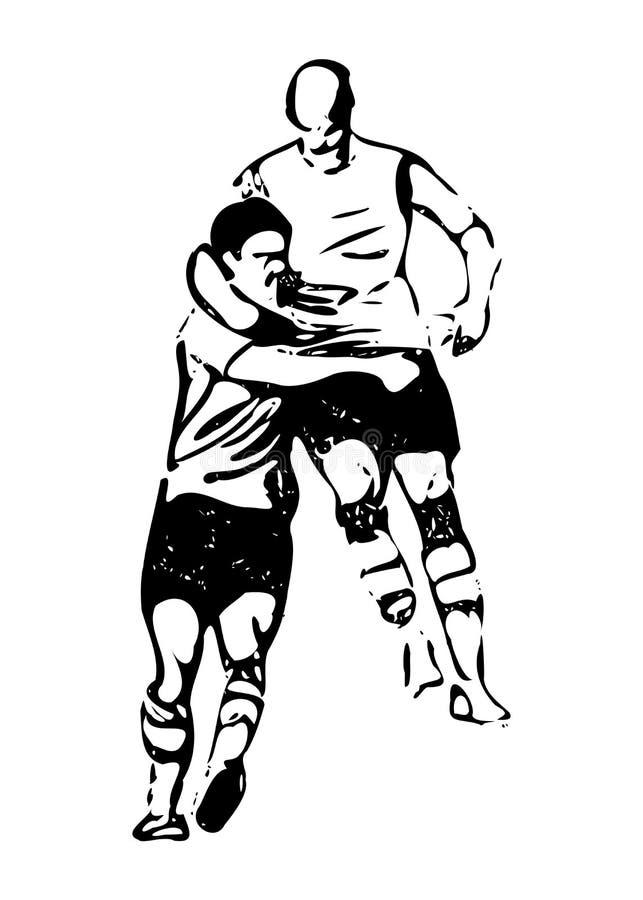 Πραγματικά διανύσματα ποδοσφαίρου δράσης - εορτασμός διανυσματική απεικόνιση
