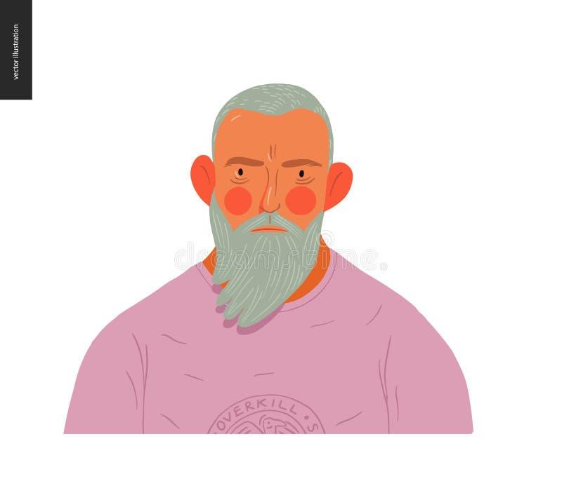 Πραγματικά πορτρέτα ανθρώπων - ξανθό γενειοφόρο άτομο ελεύθερη απεικόνιση δικαιώματος