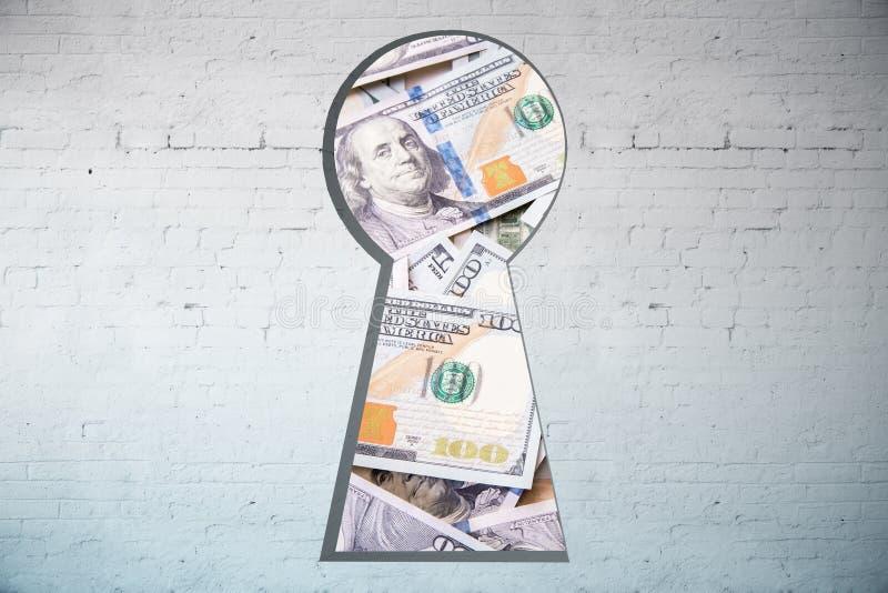 πραγματική αντανάκλαση χρημάτων σπιτιών κτημάτων έννοιας διανυσματική απεικόνιση