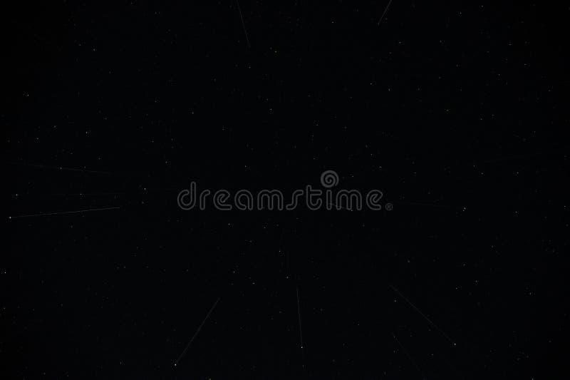 Πραγματικός νυχτερινός ουρανός με τα αστέρια στοκ εικόνες