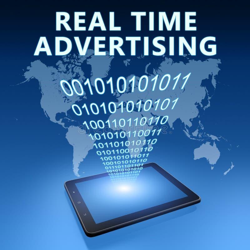 Πραγματικός - χρονική διαφήμιση στοκ φωτογραφίες