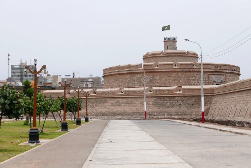 Πραγματικό φρούριο του Felipe και δημόσιο πάρκο σε Callao, Περού στοκ φωτογραφία με δικαίωμα ελεύθερης χρήσης