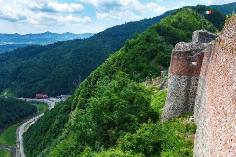 Πραγματικό Dracula Castle & x28 Poenari Castle& x29 , Transilvania, Ρουμανία στοκ εικόνα