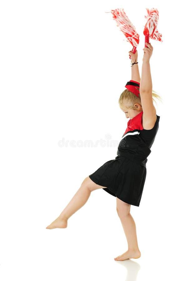 Πρακτική Cartwheel Cheerleading στοκ φωτογραφία