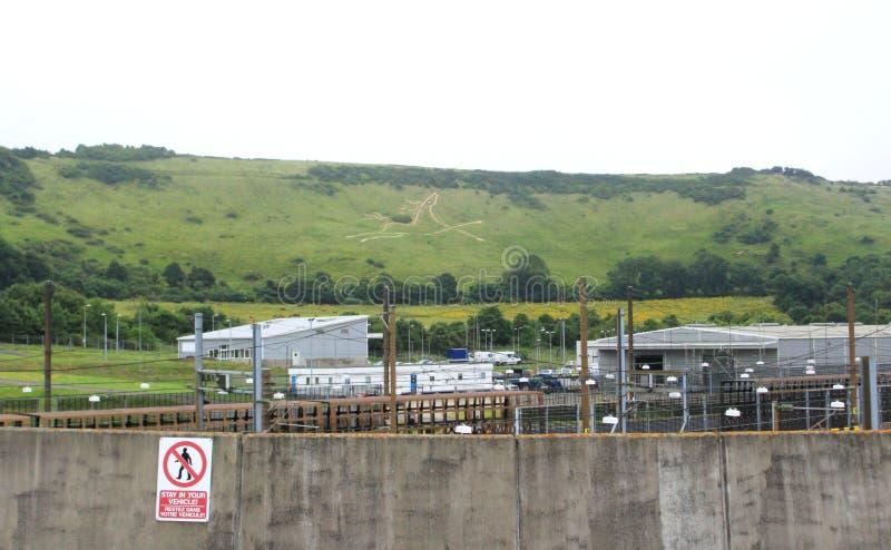 Πρατήριο βενζίνης Folkestone UK της Eurotunnel LE Shuttle στοκ φωτογραφίες με δικαίωμα ελεύθερης χρήσης