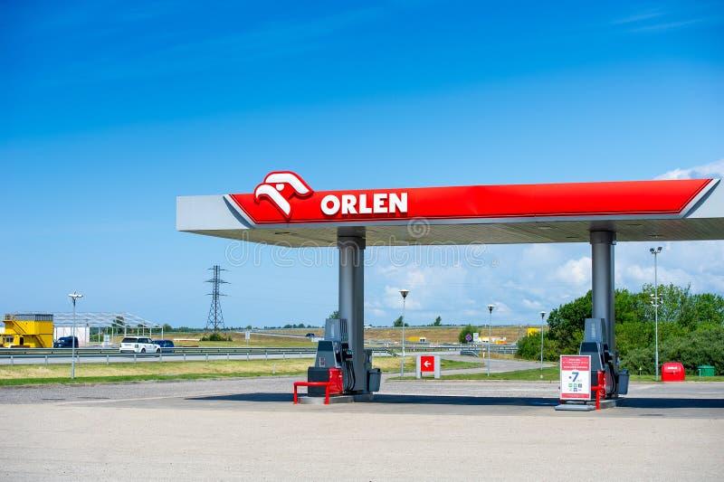 Πρατήριο βενζίνης Orlen στην Palanga, Λιθουανία στοκ φωτογραφία με δικαίωμα ελεύθερης χρήσης