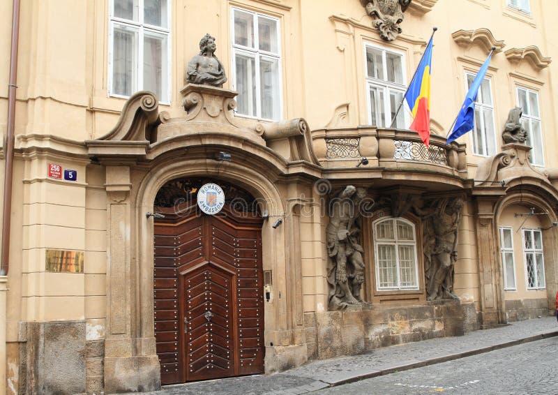 Πρεσβεία της Ρουμανίας στην Πράγα στοκ φωτογραφίες με δικαίωμα ελεύθερης χρήσης