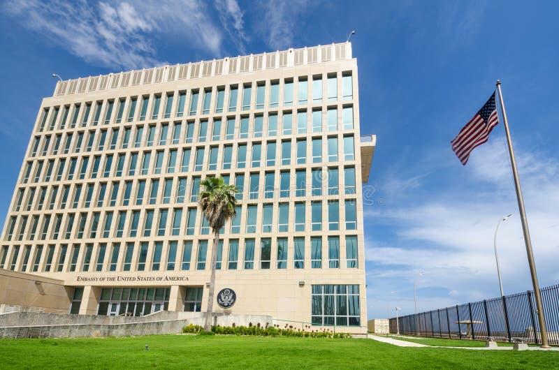 Πρεσβεία των Ηνωμένων Πολιτειών της Αμερικής στην Αβάνα, Κούβα στοκ φωτογραφία