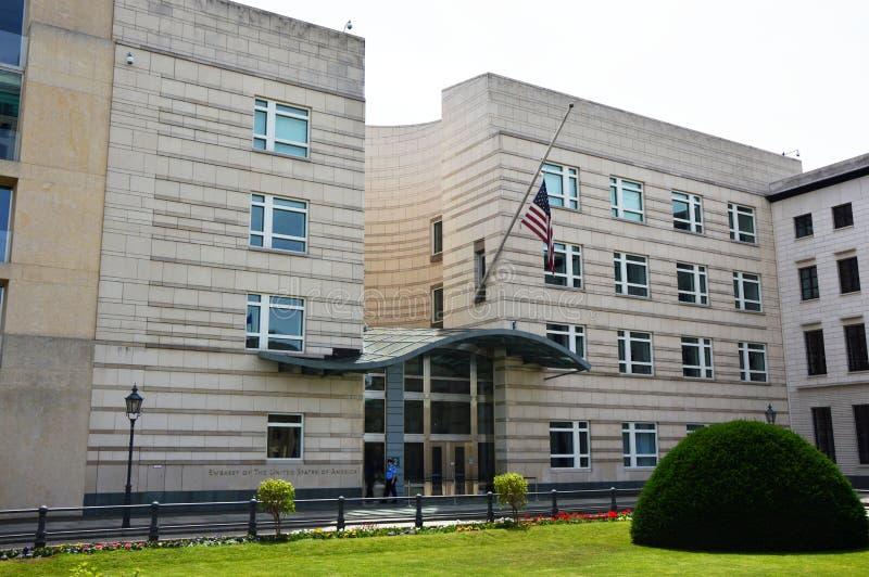 Πρεσβεία των Ηνωμένων Πολιτειών της Αμερικής στο Βερολίνο, Γερμανία στοκ εικόνα