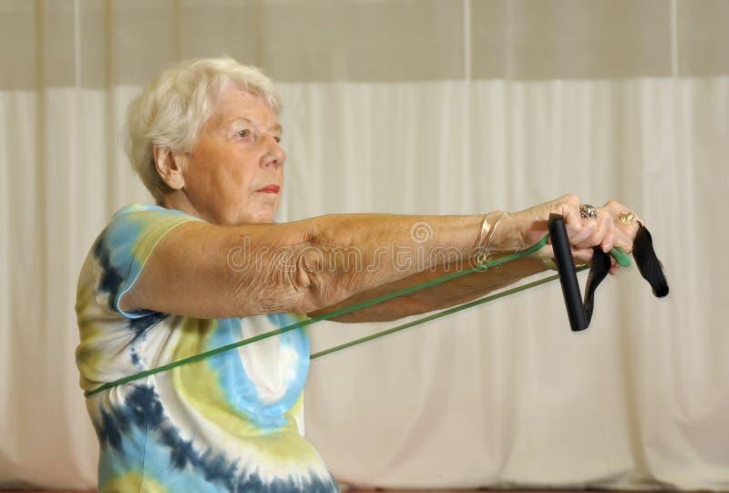 πρεσβύτερος άσκησης στοκ εικόνες με δικαίωμα ελεύθερης χρήσης