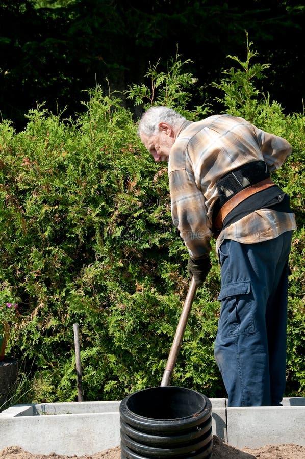 πρεσβύτερος κηπουρών στοκ εικόνες