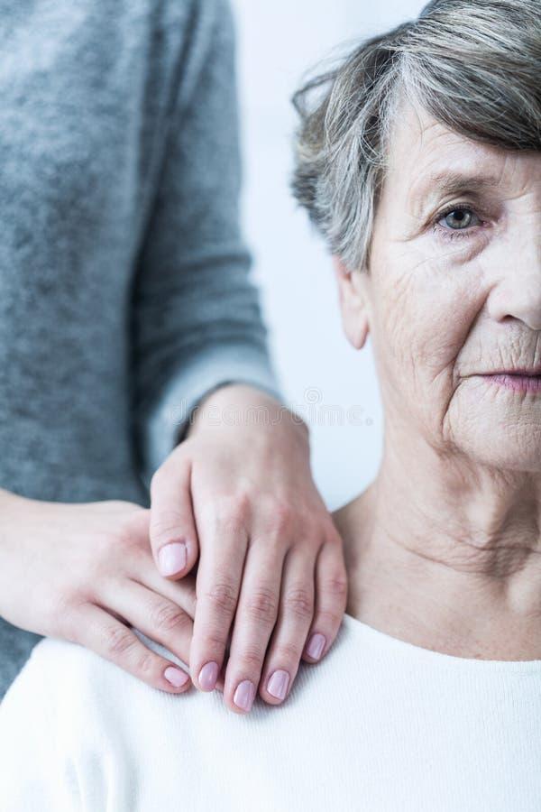 Πρεσβύτερος με τη σχιζοφρένια στοκ φωτογραφία με δικαίωμα ελεύθερης χρήσης