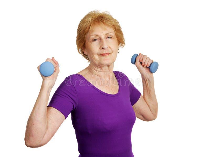 πρεσβύτερος workout στοκ εικόνα