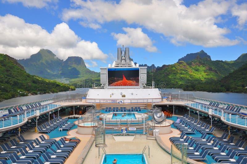 Πριγκήπισσα θάλασσας κρουαζιερόπλοιων στην Ταϊτή στοκ φωτογραφίες