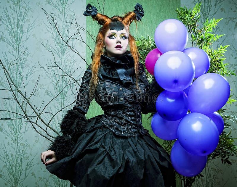 πριγκήπισσα μπαλονιών στοκ φωτογραφία