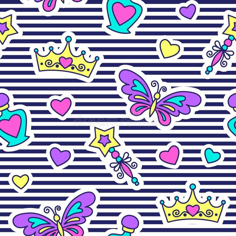 πριγκήπισσα προτύπων άνευ ραφής απεικόνιση αποθεμάτων