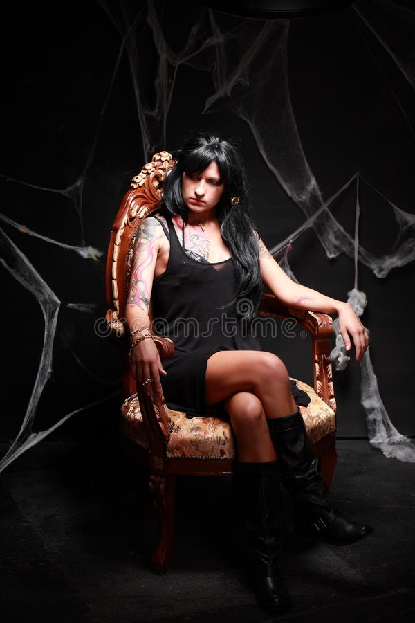 Πριγκήπισσα του σκοταδιού στοκ εικόνες με δικαίωμα ελεύθερης χρήσης