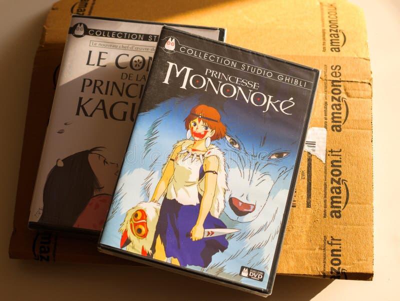 Πριγκήπισσα Mononoke και ιστορία της πριγκήπισσας Kaguya στοκ εικόνες