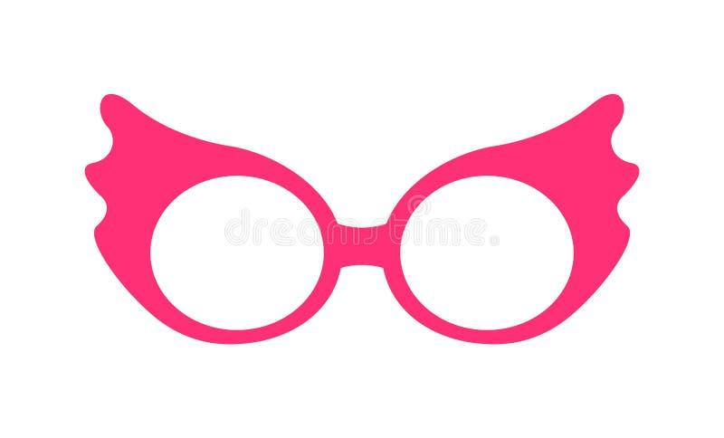 Πριγκηπισσών διανυσματική απεικόνιση γυαλιών κόμματος ρόδινη διανυσματική απεικόνιση