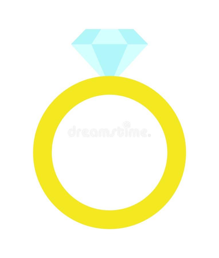 Πριγκηπισσών διανυσματική απεικόνιση δαχτυλιδιών κόμματος χρυσή διανυσματική απεικόνιση