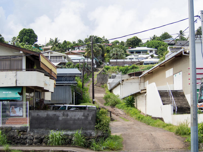 Προάστια Papeete, Ταϊτή, γαλλική Πολυνησία στοκ φωτογραφία με δικαίωμα ελεύθερης χρήσης