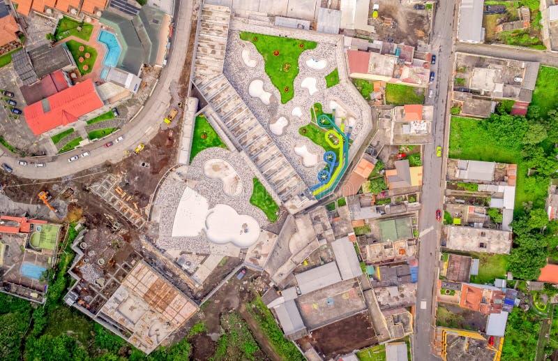 Προάστιο Banos de Agua Santa, εναέρια άποψη, Ισημερινός στοκ φωτογραφίες με δικαίωμα ελεύθερης χρήσης