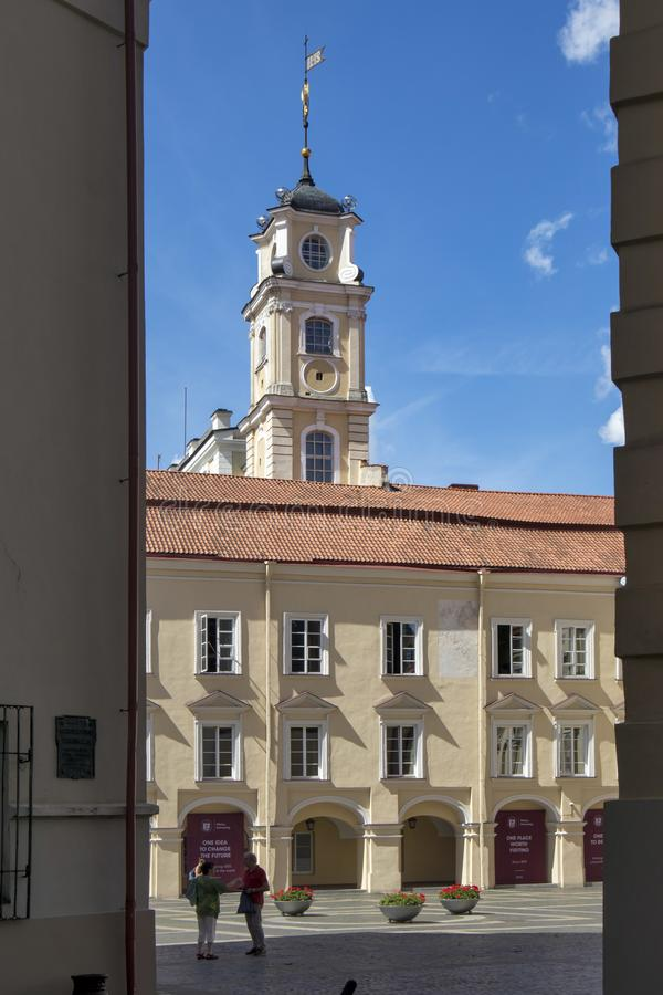 Προαύλιο μέσα στο πανεπιστημιακό σύνολο Vilnius, Vilnius, Λιθουανία στοκ εικόνες με δικαίωμα ελεύθερης χρήσης