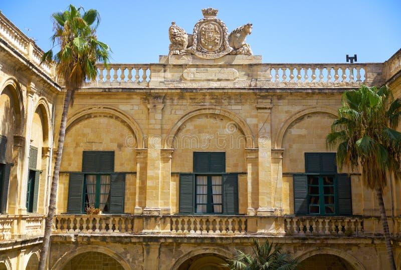 Προαύλιο Ποσειδώνα στο παλάτι του Grandmaster valletta Μάλτα στοκ φωτογραφία