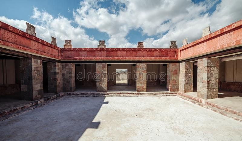 Προαύλιο Palacio de Quetzalpapalotl, Teotihuacan Μεξικό στοκ εικόνα με δικαίωμα ελεύθερης χρήσης