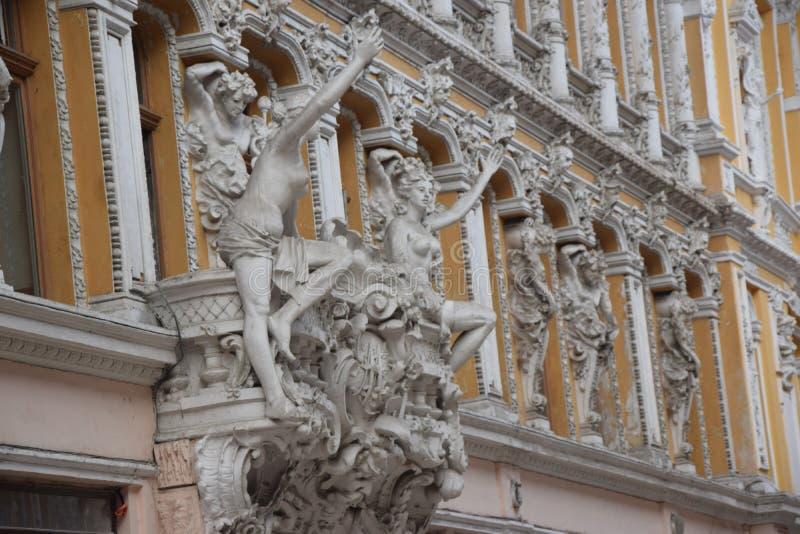 Προαύλιο της Ουκρανίας, Οδησσός, αρχιτεκτονική στα μικρά πράγματα, αγάπη για την αρχιτεκτονική στοκ εικόνα με δικαίωμα ελεύθερης χρήσης