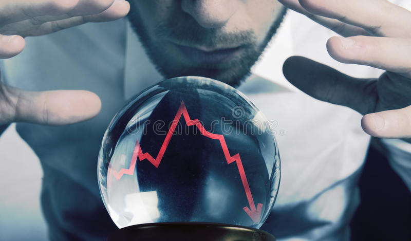 Προβλέψεις της οικονομικής κρίσης στοκ φωτογραφία