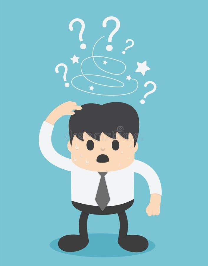Προβληματικός έννοια επιχειρηματίας απεικόνισης διανυσματική απεικόνιση