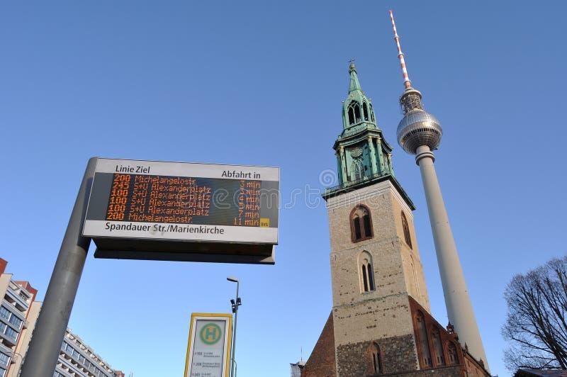 Προβολή πόλης του Βερολίνου στοκ φωτογραφία