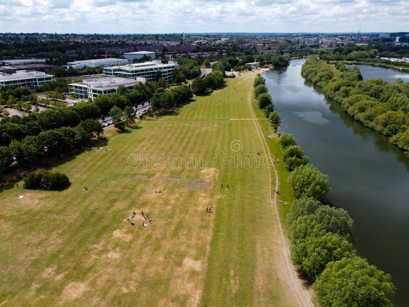 Προβολή του Thames Valley Park στοκ φωτογραφία με δικαίωμα ελεύθερης χρήσης