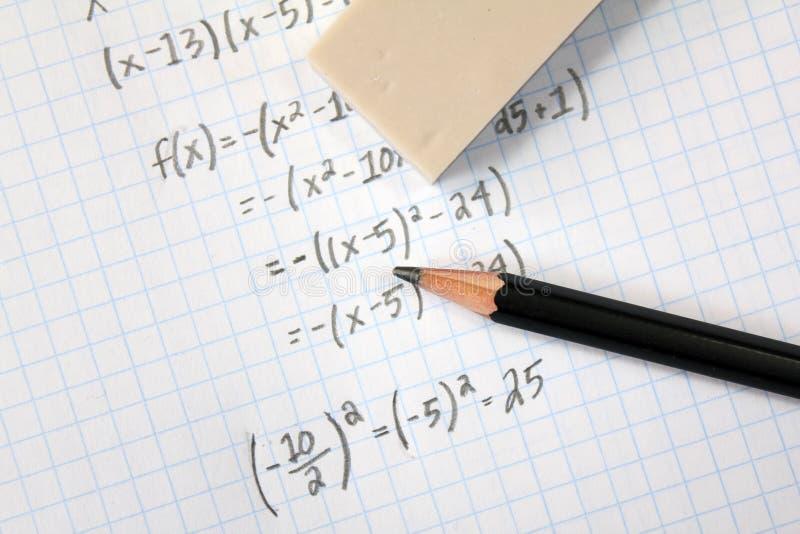 Προβλήματα Math στοκ εικόνα