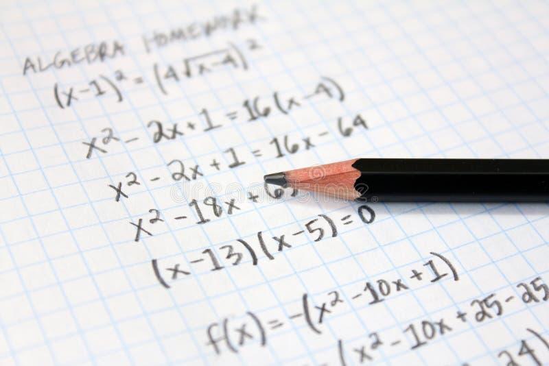 Προβλήματα Math στοκ εικόνες